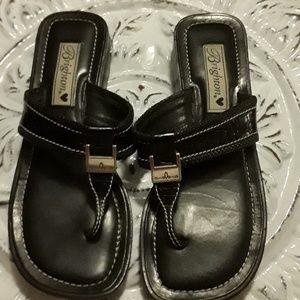 EUC Brighton 7 1/2 black sandles